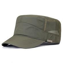 Casquette plate en molleton pour hommes de grande taille, chapeau militaire dété en Polyester, de grande taille, 55 60cm, 60 65cm