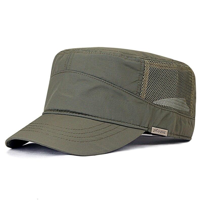 Winter Big Head Man Large Size Fleece Army Flat Cap Men Summer Polyester Plus Size Mesh Military Hat 55-60cm 60-65cm