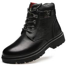 Мужские зимние ботинки из воловьей кожи первого слоя Прямая