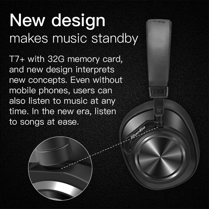 Image 3 - Bluedio T7 Plus Bluetooth Headphones User defined Active Noise Cancelling Wireless Headset for phones support SD card slot-in Phone Earphones & Headphones from Consumer Electronics