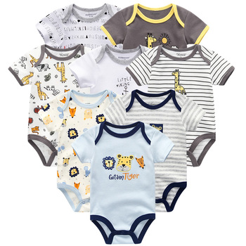 Baby's Colorful Rompers 8 Pcs Set 1