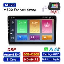 Hd 6 + 128g 4g lte 7862 android 10.0 rádio do carro multimídia playe universal auto estéreo navegação gps jogador de vídeo bluetooth