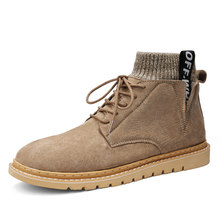 Winter Outdoor Work Boots Keep Warm Martin Boots Nubuck Leather Ankle Boots Casual Shoes(China)