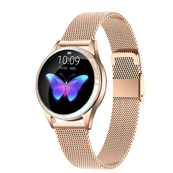 LEMFO New Women Smart Watch Alloy Case IP68 waterproof Pedometer Heart Rate Monitor Fitness Tracker Smartwatch Gift for Women