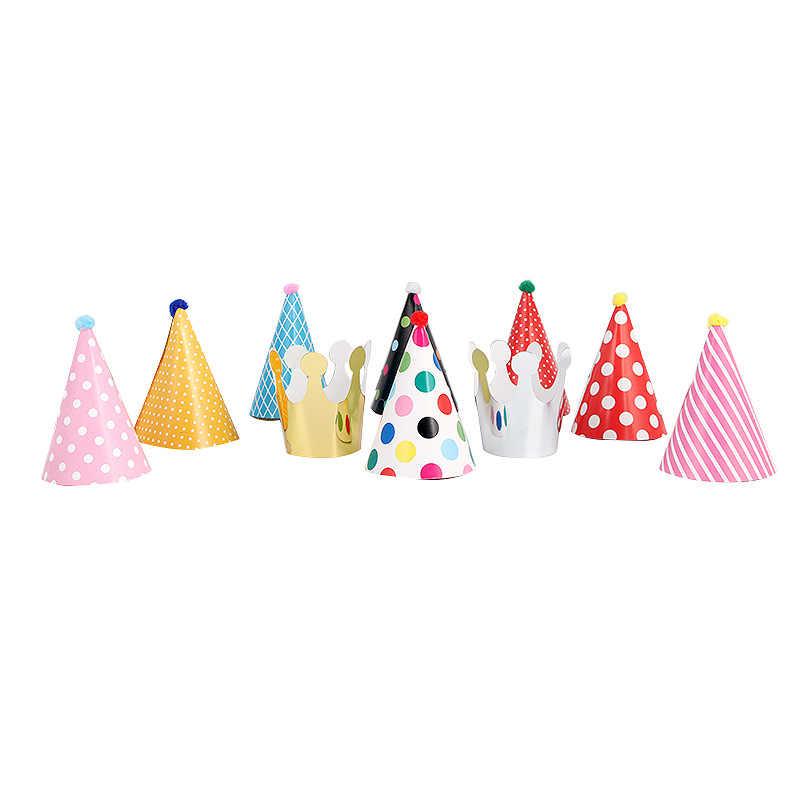 11 sztuk/partia dla dzieci urodzinowe kapelusze dla dzieci dekoracje na przyjęcia urodzinowe baby boy dziewczyna imprezowe papierowe cap prince princess crown