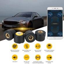 LEEPEE Android iOS BLE TPMS External Alarm Tire Pressure Sensors Universal Waterproof Car Tire Pressure Sensor Bluetooth 4.0 5.0