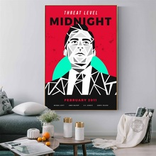 Hot TV Shows Series Threat Level Midnight Art Painting Silk Canvas Poster Wall Home Decor threat modeling