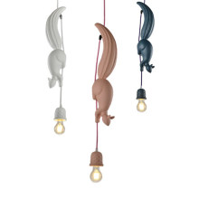 Nordic Resin Squirrel Led Pendant Lights Modern Industrial Hanging Animal Lamp for Children's Room Kitchen Loft Decor Fixtures(China)
