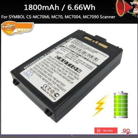 nova 1800 mah 6 66wh scanner bateria de substituicao para symbol cs mc70ml mc70 mc7004