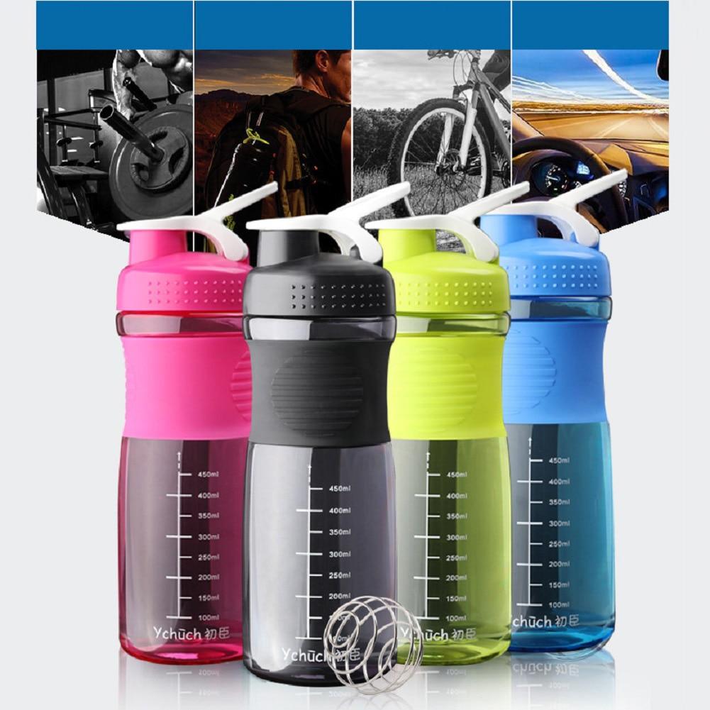 800 мл спорт вода бутылка протеин миксер шейкер бутылка герметичный петля верх с шейкер мяч