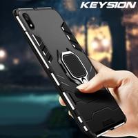 KEYSION a prueba de choques de la armadura caso para Xiaomi Redmi 7A 7 nota 7S 7S 8 S 8 Pro soporte funda del teléfono del anillo para Xiaomi A3 A2 Lite Mi 9T Mi 9 SE