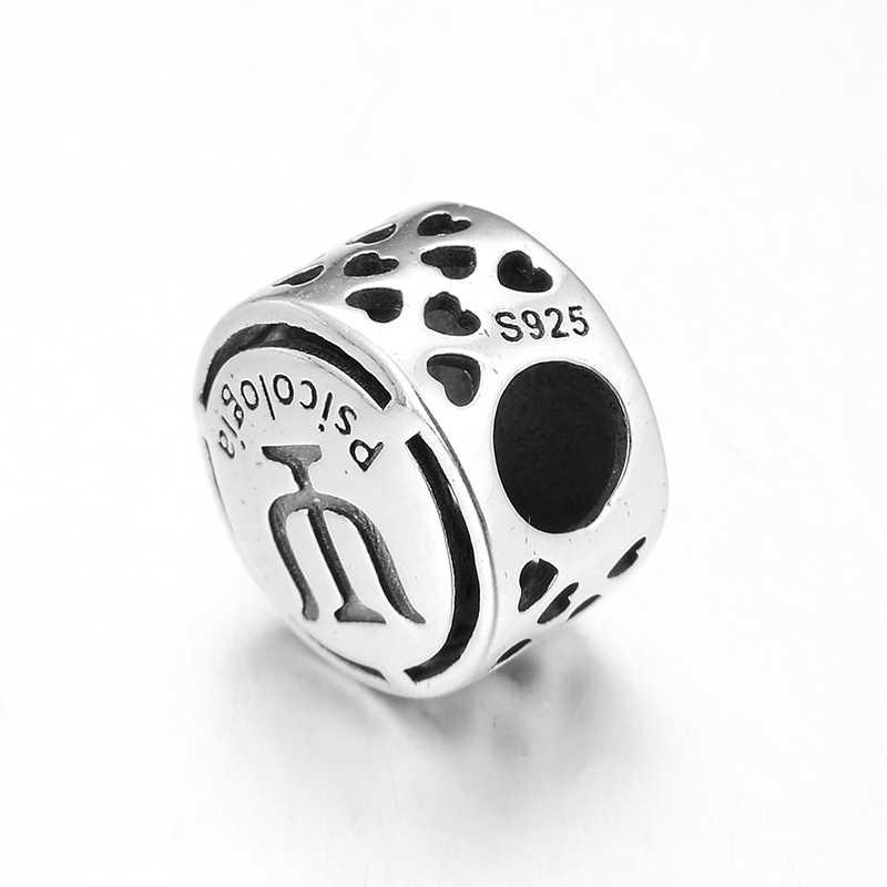 จิตวิทยาอาชีพสัญลักษณ์ Charm 925 เงินสเตอร์ลิงเครื่องประดับทำพอดี Pandora Charm สร้อยข้อมือกำไลข้อมือ