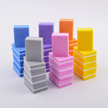 Разноцветные губки для ногтей 10/20/30/50 шт., буферная пилка для ногтей, шлифовальные профессиональные инструменты для ногтей, двусторонние, для педикюра и маникюра Пилки для ногтей и буферы      АлиЭкспресс