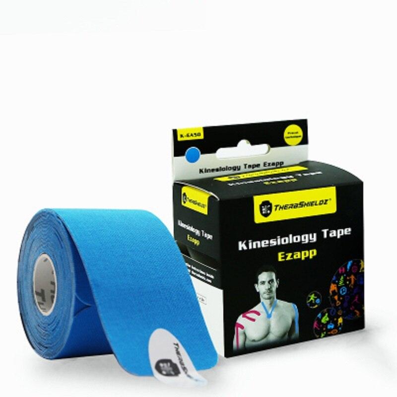 5 cm*5 m pre-cut sports tape vendas adhesivas elastic bandage kinesiology sport tape bandagem elastica Tapes Adhesive