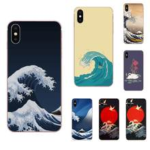Wave Art Japanese Green Illust For Xiaomi Redmi Mi 4 7A 9T K20 CC9 CC9e Note 7 9 Y3 SE Pro Prime Go Play Skin Thin(China)
