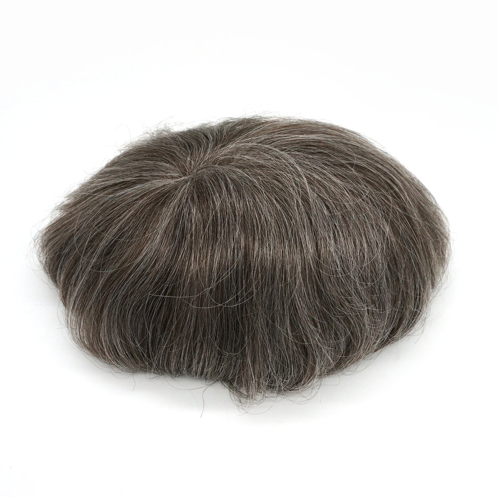 Hstonir Super Thin Skin Toupee Men Wig Indian Remy Hair H078