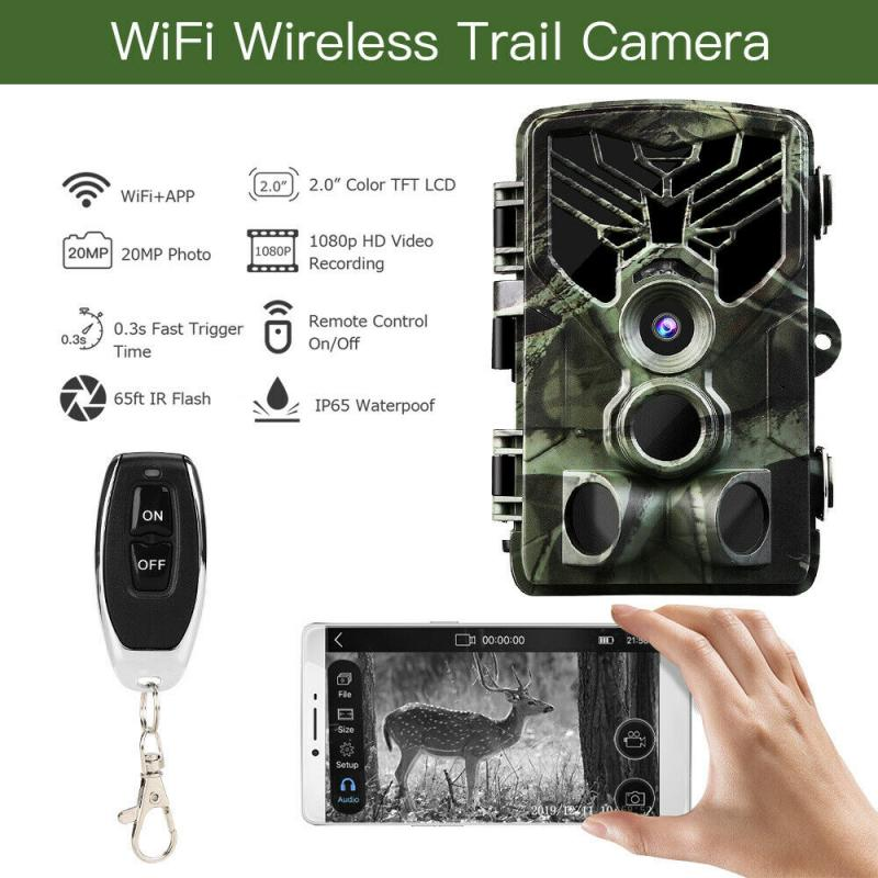 WIFI 810 Trail Camera Hunting Game 20MP 1080P Outdoor Wildlife Scouting Camera with PIR Sensor 0.3s Fast Trigger IP65 Waterproof image