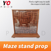Escape room game Maze stand prop walk the maze in both size to unlock the door adventure game