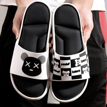 цена на 2020 Summer Men Beach Slippers Outdoor Non-slip Soft Couple Shoes Unisex Slides Fashion Flip Flops Bathroom Sandals TX163