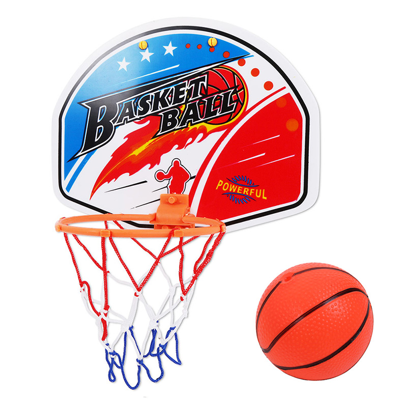 27*21cm Plastic Toy Rebounds Indoor Adjustable Hanging Basketball Netball Hoop Basketball Toy Box Mini Basketball Board
