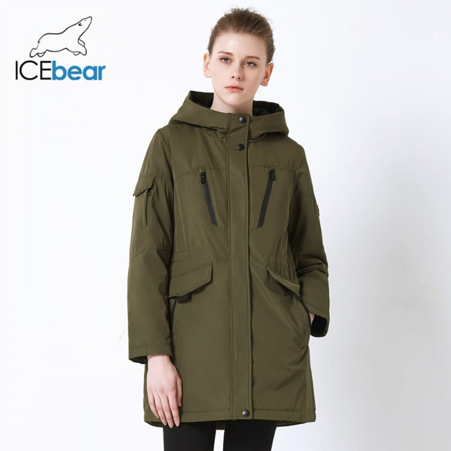 ICEbear 2019 neue herbst frauen jacke hohe qualität parka casual damen jacke schlank mit kapuze marke jacke GWC18010I