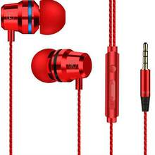 Hi Fi Super Bass Headset Kabel 3.5 Mm In-Ear Earphone Stereo Earbud dengan Mikrofon Handsfree untuk Samsung Xiaomi Ponsel(China)