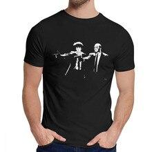 Pulp Cowboy Bebop Tee Leisure Round Collar Fashionable Men's Vintage 100% Cotton US Size S-6XL Big Size Tshirt
