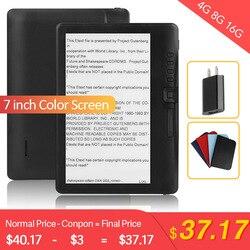 CLIATE электронная книга 4G8G/16G ЖК-дисплей 7 дюймов для чтения электронных книг цветной экран Смарт с разрешением HD цифровая электронная книга в...