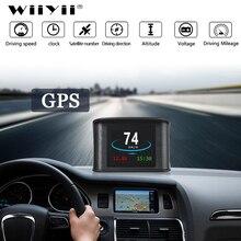 T600 GPS OBD2 Car Head Up Display Del Computer Tachimetro Digitale di Visualizzazione della Velocità il Consumo di Carburante del Calibro di Temperatura Strumento di Diagnostica