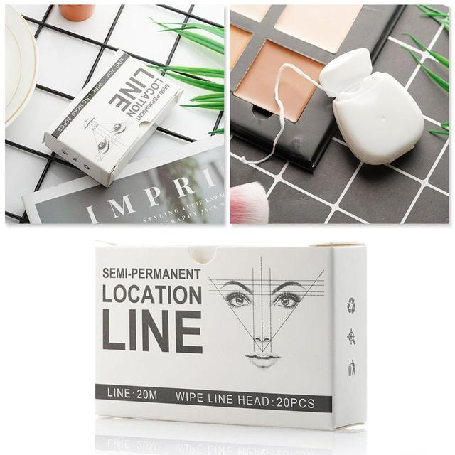 Pre-Inked Brow Mapping Strings pigment string for Microblading  Accessories Brow Mapping Thread For Eyebrow Permanent Makeup 2
