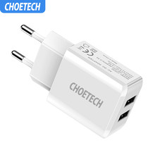 Choetech 5 V 2A Single/Dual Port USB Dinding Charger Universal Smartphonetravel Charger Adaptor untuk Samsung Galaxy S8/ s7/S6(China)