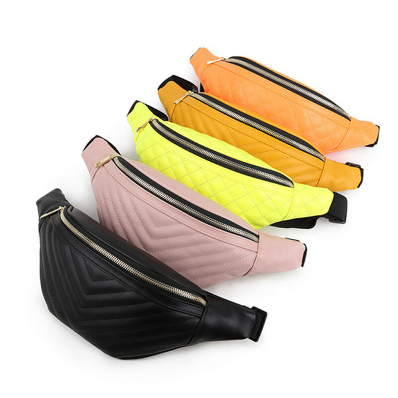 Women Ladies New Small Bum Bag Waist Girls Traveling Adjustable Pouch  Runner Waist Belt Bag Pack Pouch Zip Fanny Pack