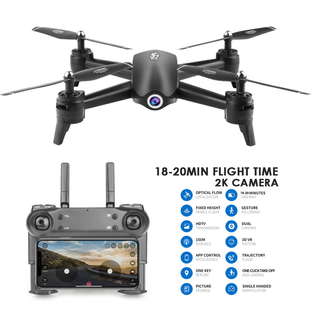 2.4Ghz WIFI FPV 720P/1080P/2K HD Dual Camera 18 Minutes Flight Remote Control RC <font><b>Drone</b></font> <font><b>S165</b></font> attitude hold Headless Mode RC Toys image