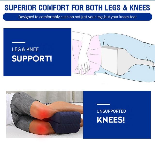 Memory Cotton Leg Pillow For Side Sleeper Sciatica Relief Sleeping Orthopedic Or pillowcase Pregnancy Body Memory Foam Pillow 5