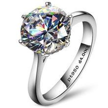 Классическое Обручальное кольцо 4 карата с 6 когтями nscd для