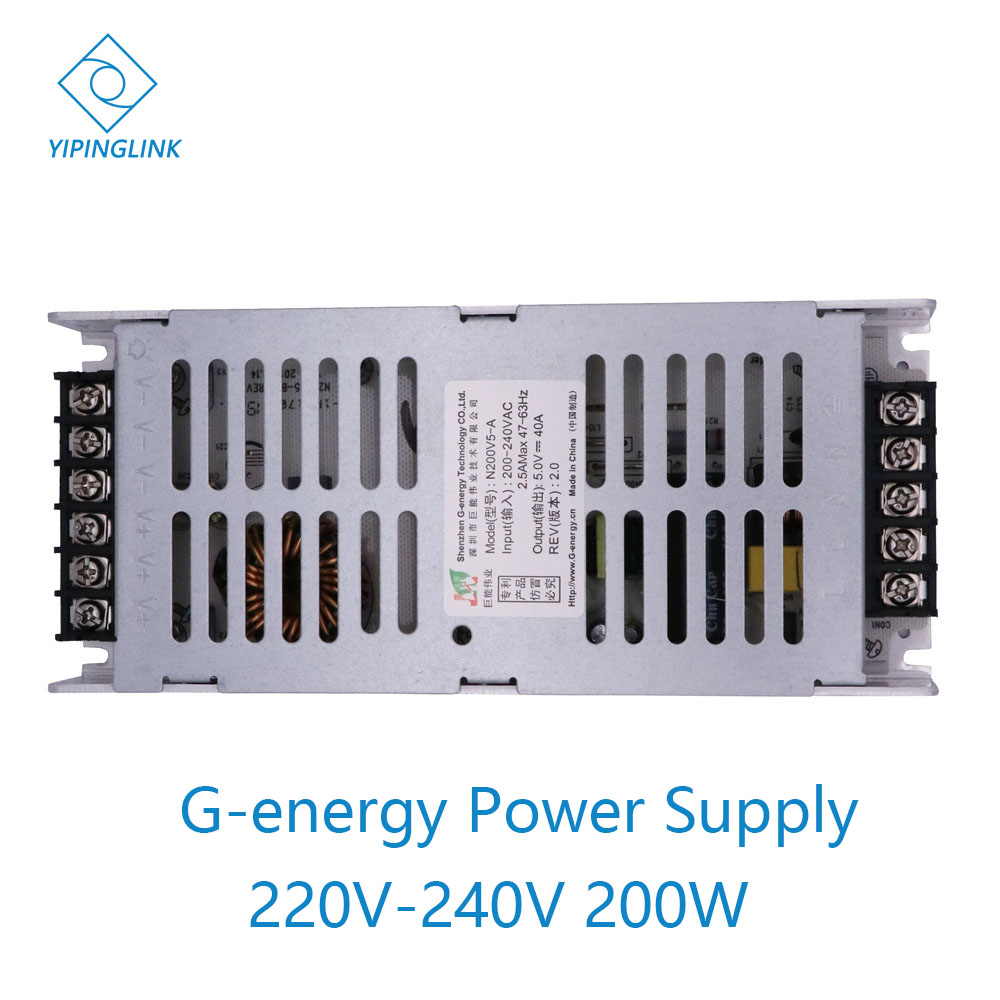 G-energy N200V5-A Power Supply 5V 40A 200W LED Display Panel Ultra Power Supply 200-240V AC Input Switching Power Supplier