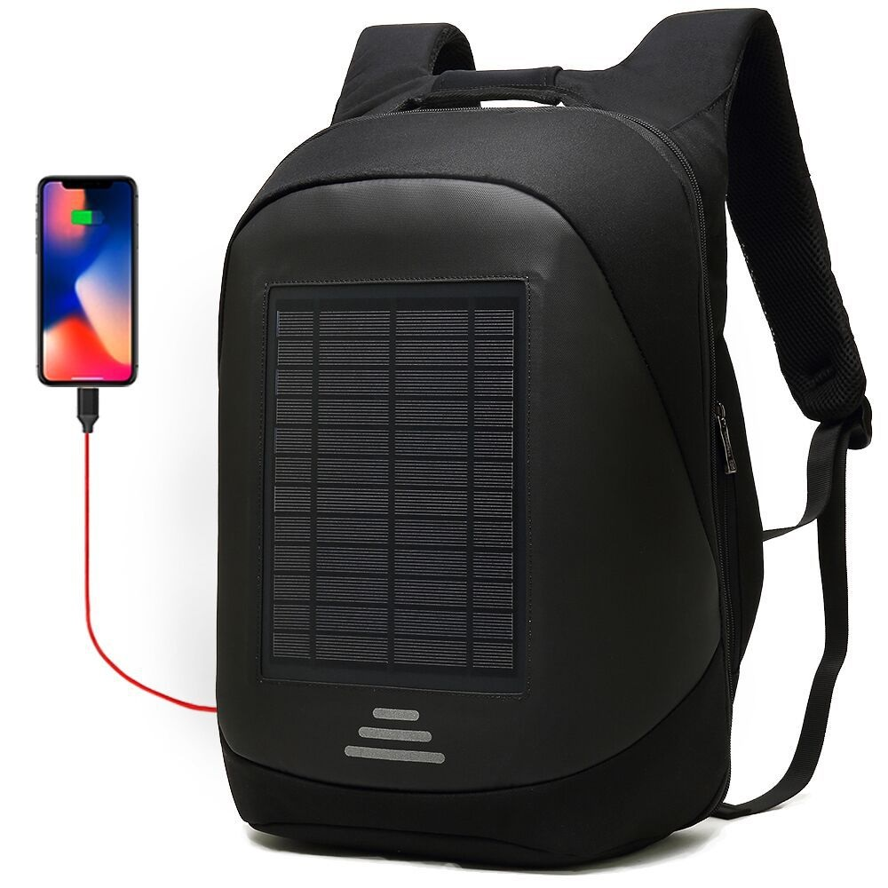 """15.6/"""" Solar Charger Backpack Laptop Backpack Anti-Theft Business Bag for Travel"""