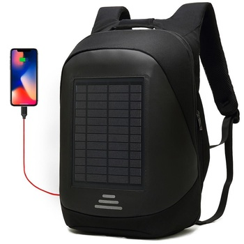 15.6' Laptop Solar Backpack Large iPad Bag USB Charging Business Backpacks Traveling Daypack anti theft backpack Male Mochila 1
