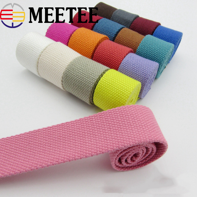 5Yards 32mm Width 2mm Thick Canvas Ribbon Belt Bag Webbings Strap Tape For Bag Strapping Belt Bias Binding Tape DIY Sewing Craft