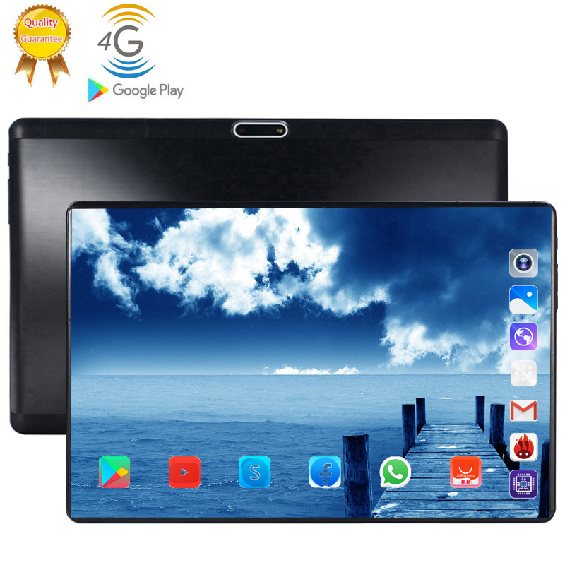 2020 Tablet Pc 128G Boy Birthday Present Android 9.0 10.1 Inch Tablets 10 Core 4G LTE 8GB RAM 128GB ROM 2.5D Screen Tablets Pc