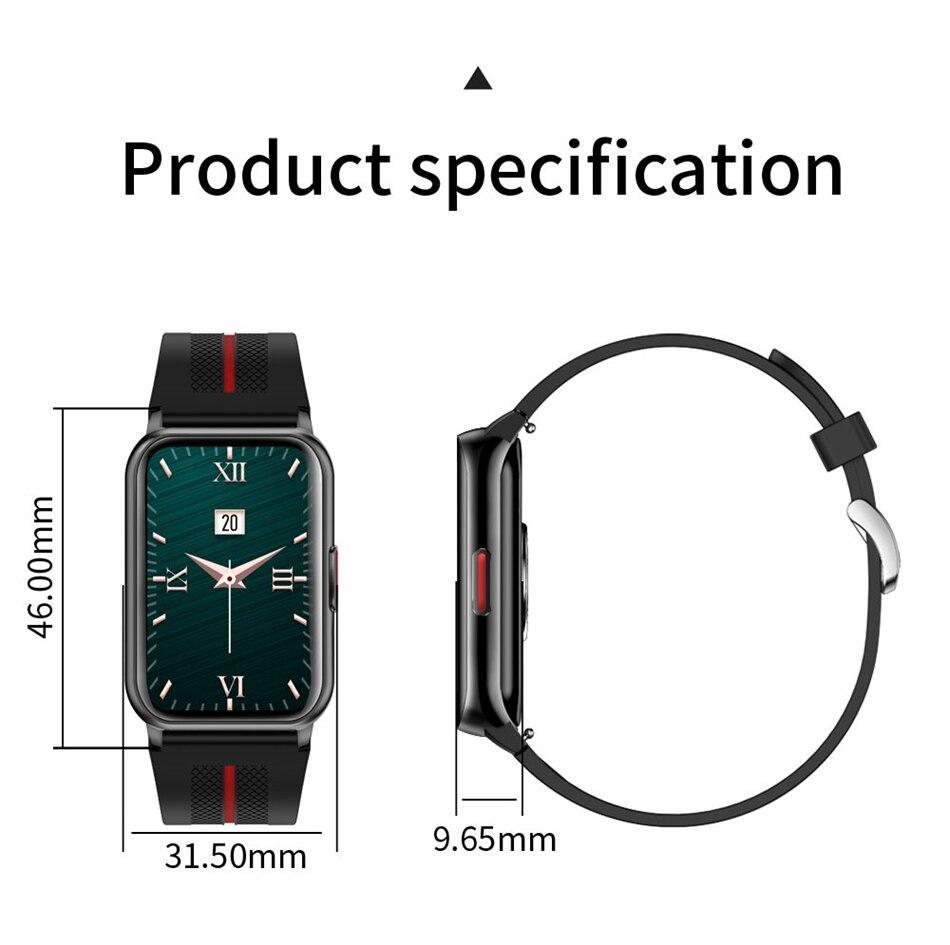 H9cc1fa2228a145ea8f58cab204d49e01K New Smart Band Watch Fitness Tracker Bracelet Waterproof Smartwatch Heart Rate Monitor Blood Oxygen LED Screen For Huawei Xiaomi
