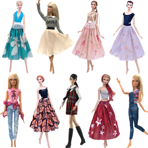 NK 2020 1xDoll Dress For Barbie Doll Party DIY Skirt Super Model Outfit Daily Wear Accessories Child Gift Baby Toy G4 JJ(China)