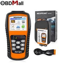 NEXPEAK NX501 OBD2 skaner samochodowy silnik samochodowy narzędzie diagnostyczne pełne protokoły OBD 2 analiza danych wsparcie drukowanie/aktualizacja