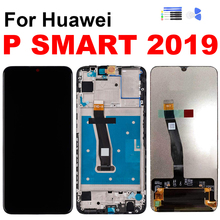 For Huawei P Smart 2019 Display Touch Screen Digitizer LCD Assembly for Huawei P Smart 2019 Screen with Frame Repair Replacement 6 21original display for huawei p smart 2019 lcd display screen touch digitizer assembly p smart 2019 display repair parts tool