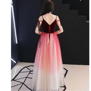 Image 5 - Vestido De Festa V Neck Sexy formalne na imprezę bal suknia długie suknie wieczorowe