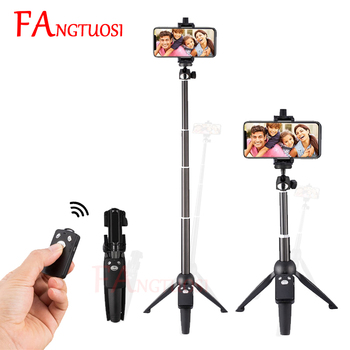 FAGNTUOSI Wireless Bluetooth Selfie Stick Portable Foldable Tripod Handheld monopod For iPhone XR Samsung Gopro Hero 7 6 Yi Cam