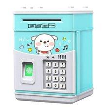 Saving Box Banknote ATM Money-Box Deposit Piggy-Bank Cash-Coins Fingerprint Kid Password