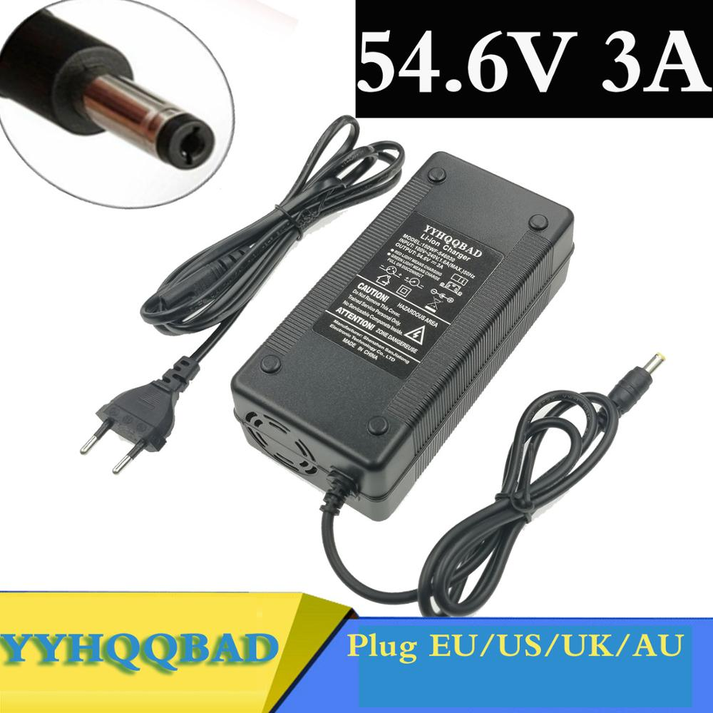 54 6V 3A Battery Charger For 13S 48V Li-ion Battery electric bike lithium battery Charger High quality Strong heat dissipation