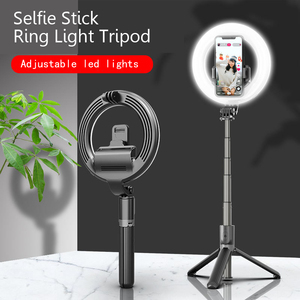 Image 5 - multi functional portable  folding selfie stick ring light tripod remote control