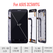 Original For ASUS Zenfone Go ZC500TG Z00VD LCD Display Touch Screen Digitizer Assembly For Asus ZC500TG Display with Frame 5.0